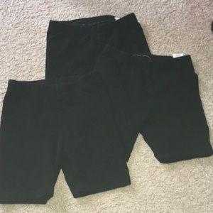 Lot of three black cartwheel bike shorts